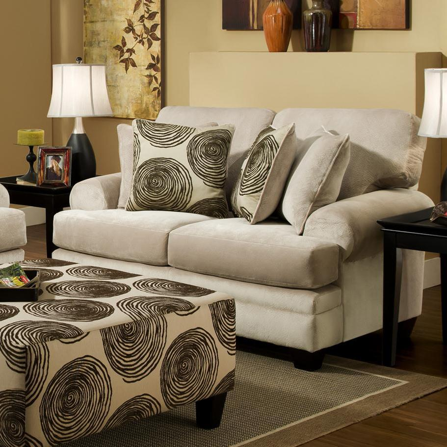 Albany 8642 Transitional Loveseat - Item Number: 8642-10-GENS-35282
