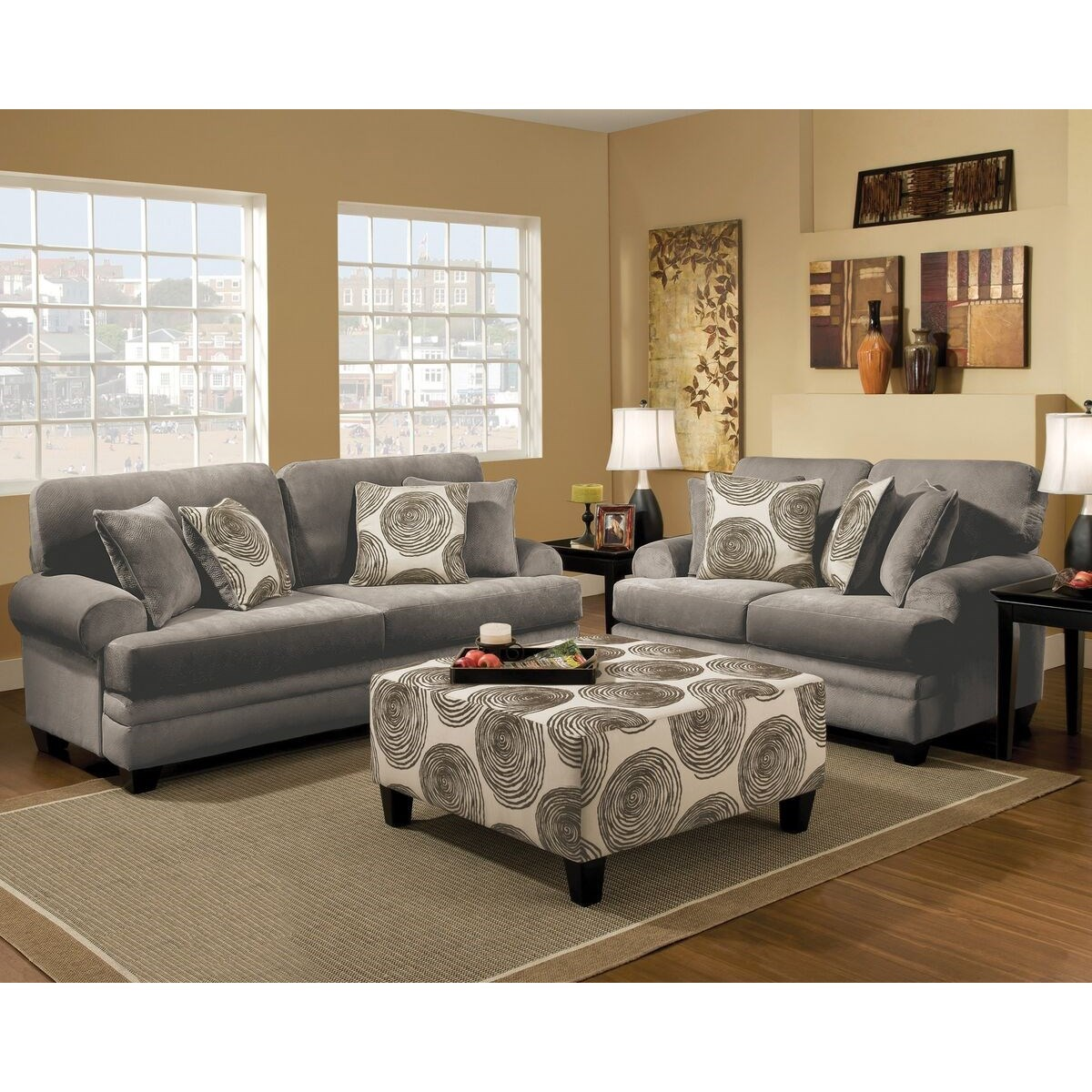 Albany 8642 8642-10-GENS-35292 Transitional Loveseat With