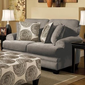Albany 8642 Transitional Loveseat