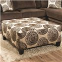 Albany Winfrey Ottoman - Item Number: 8642-32-Chocolate