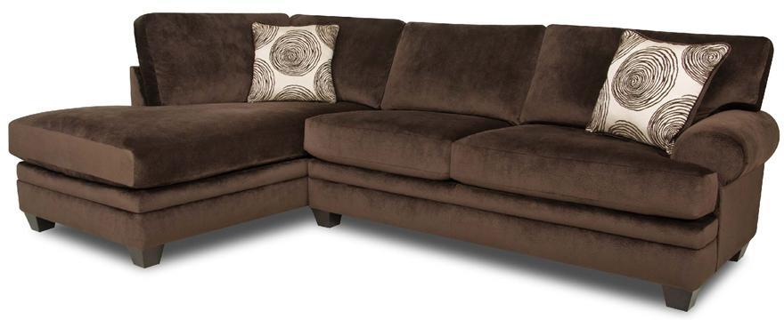 Albany WINFREY Transitional Sectional Sofa - Item Number: 8642-60+65-GENS-35218-Chocolate