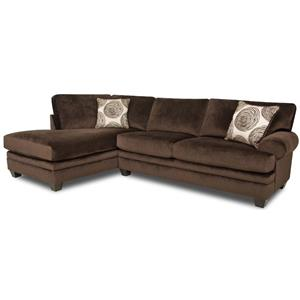 Albany 8642 Transitional Sectional Sofa