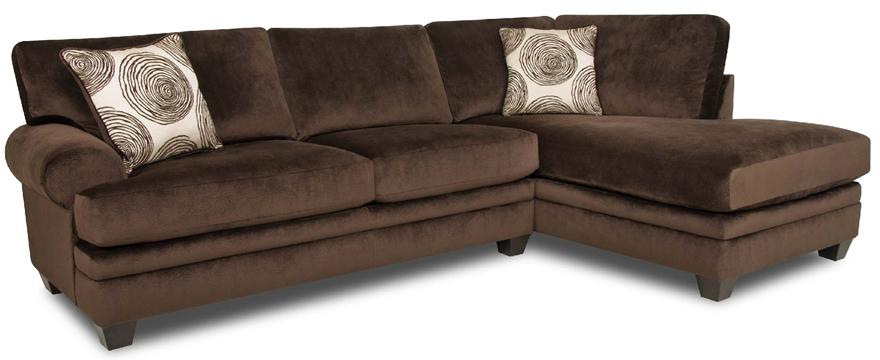 Albany 8642 Sectional   Item Number: 8642 67+61 Chocolate