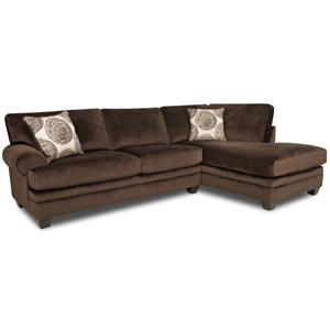 Albany 8642 Transitional Sectional Sofa With Chaise A1 Furniture