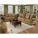 Albany 8645 Stationary Living Room Group - Item Number: 8645 Living Room Group 2
