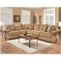 Albany 8645 Transitional Sectional - Item Number: 8645-63+-65