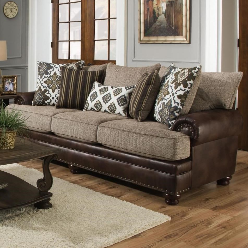 8647 Traditional Sofa by Albany at A1 Furniture & Mattress