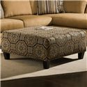 Albany 8648 Collection Casual Cocktail Ottoman - Item Number: 8648-32-Austin Harvest