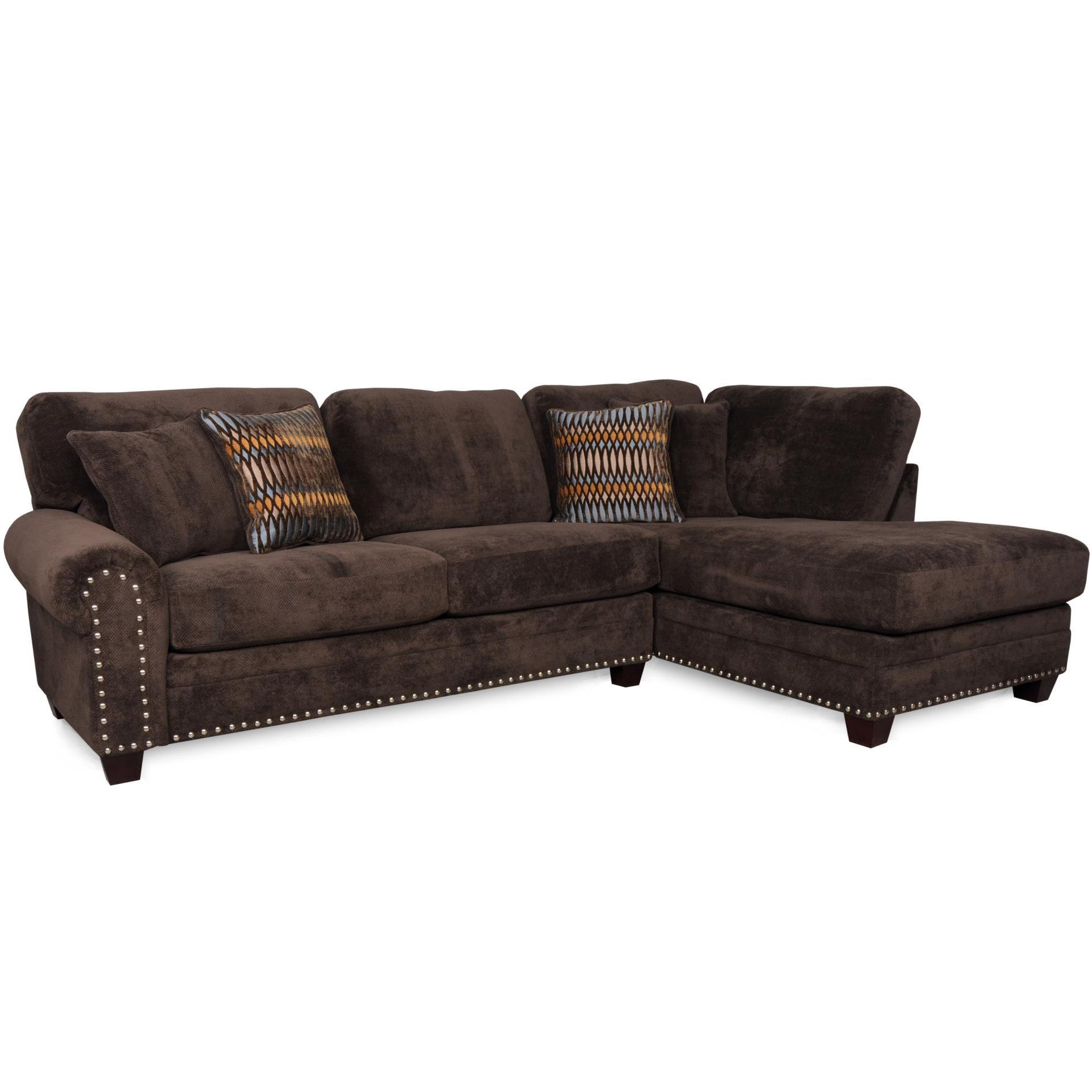 Albany 8648 Collection Casual Sectional - Item Number: 8648-67+61-Bigo Chocolate