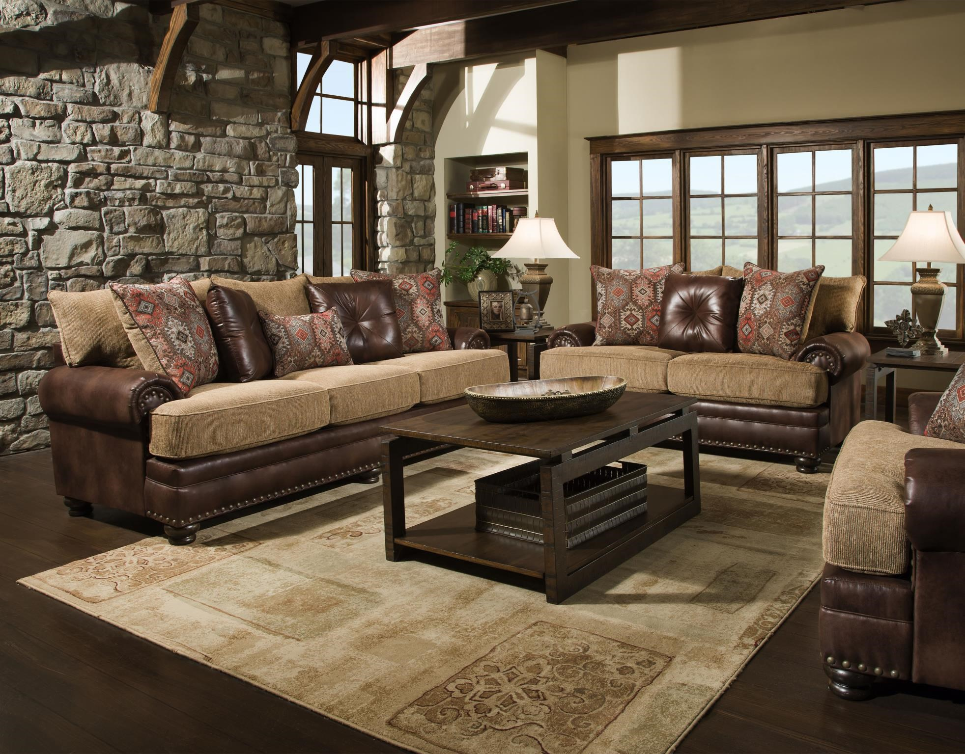 Traditional Sofa, Loveseat, Chair and Ottoma