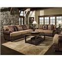 Albany 8649 Traditional Sofa, Loveseat, Chair and Ottoma - Item Number: 123386496
