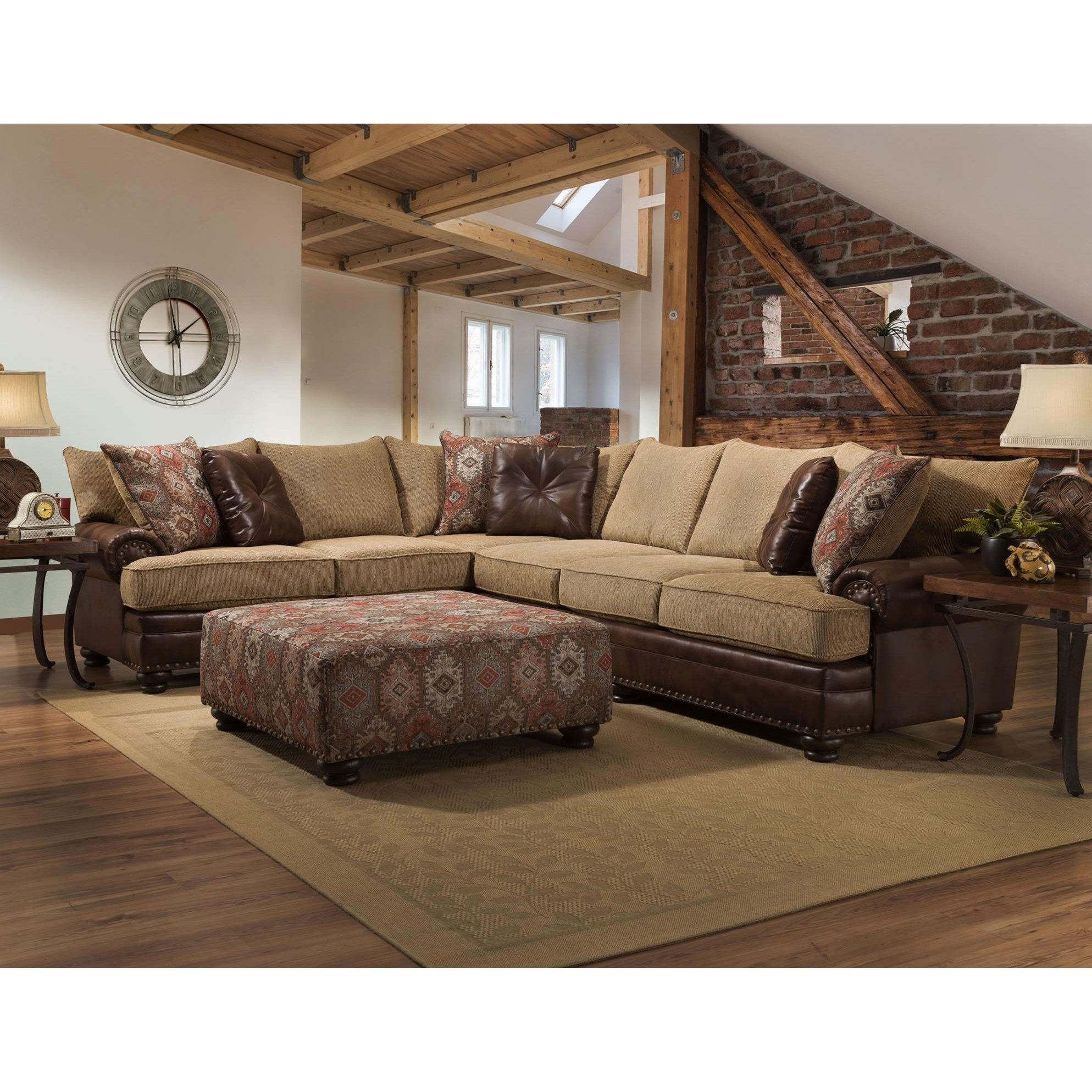 Sectional Sofa and Chair