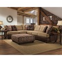 Albany 8649 Sectional Sofa and Chair - Item Number: 129386492