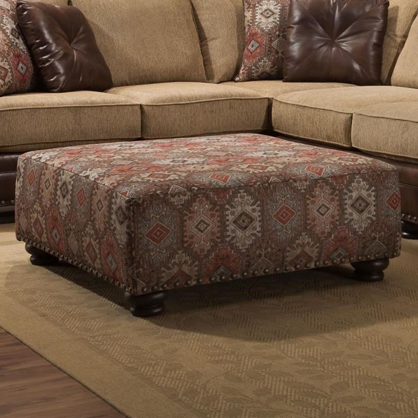 8649 Cocktail Ottoman by Albany at A1 Furniture & Mattress