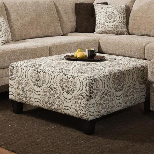 8658 Cocktail Ottoman by Albany at A1 Furniture & Mattress