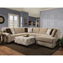 Albany 8658 3-Piece Sectional and Ottoman - Item Number: 8658-3PC+32-GENS-39583