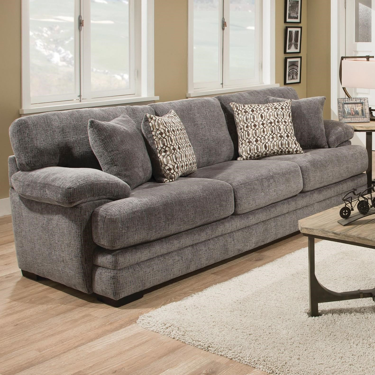 8662 Casual Sofa With Plush Pillow Arms By Albany At Furniture And Appliancemart