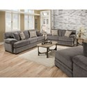 Albany 8662 Casual Loveseat with Plush Pillow Arms