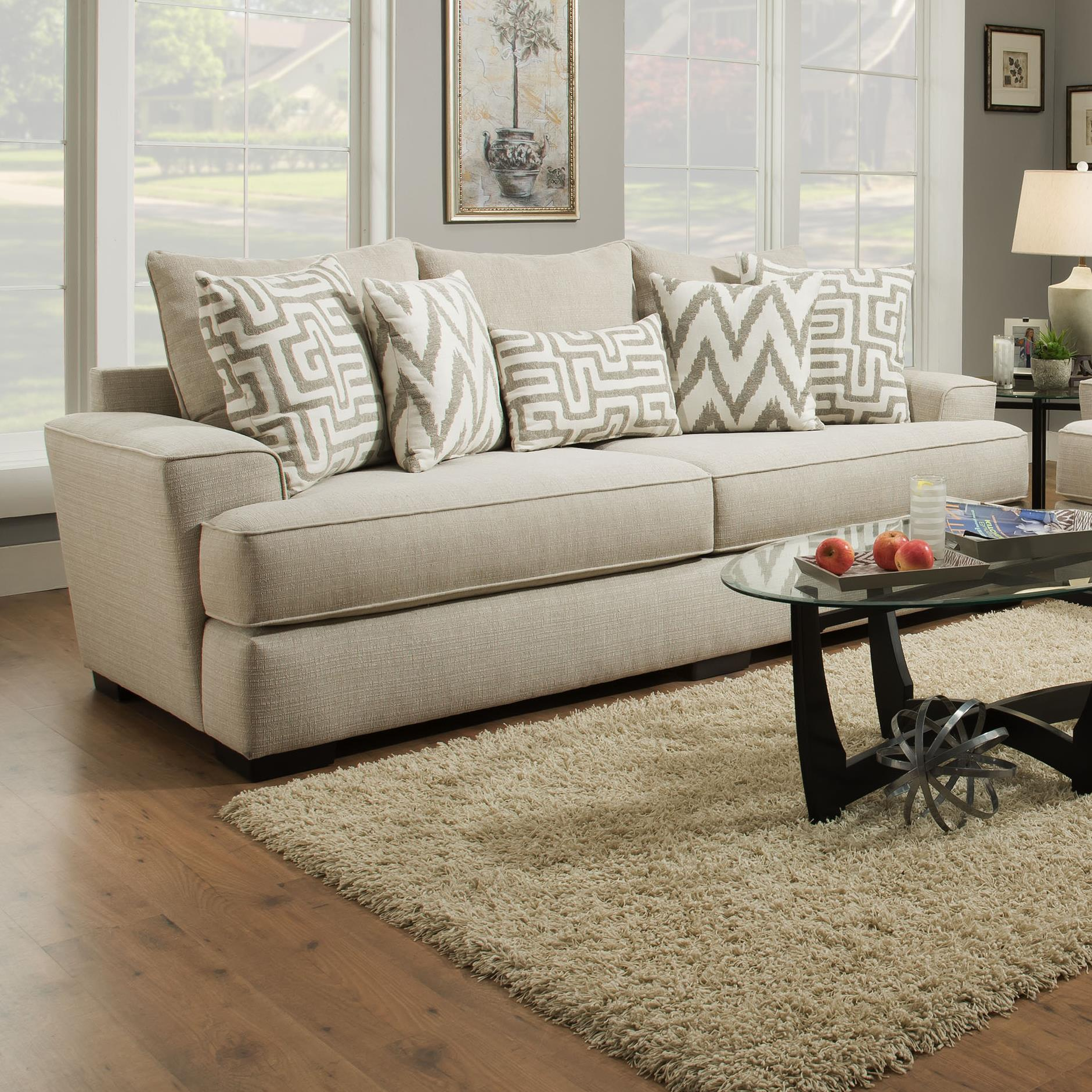 Albany 8686 8686 00 Gens 20612 Transitional Sofa With Wide Arms  # Muebles Fuzion Santa Rosa