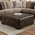 Albany 8782 Square Cocktail Ottoman - Item Number: 8782-32-GENS-31514