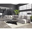 Albany 880 Sectional Sofa - Item Number: 880-3PC-GENS-22594