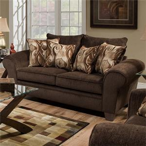 Albany 910 Transitional Loveseat