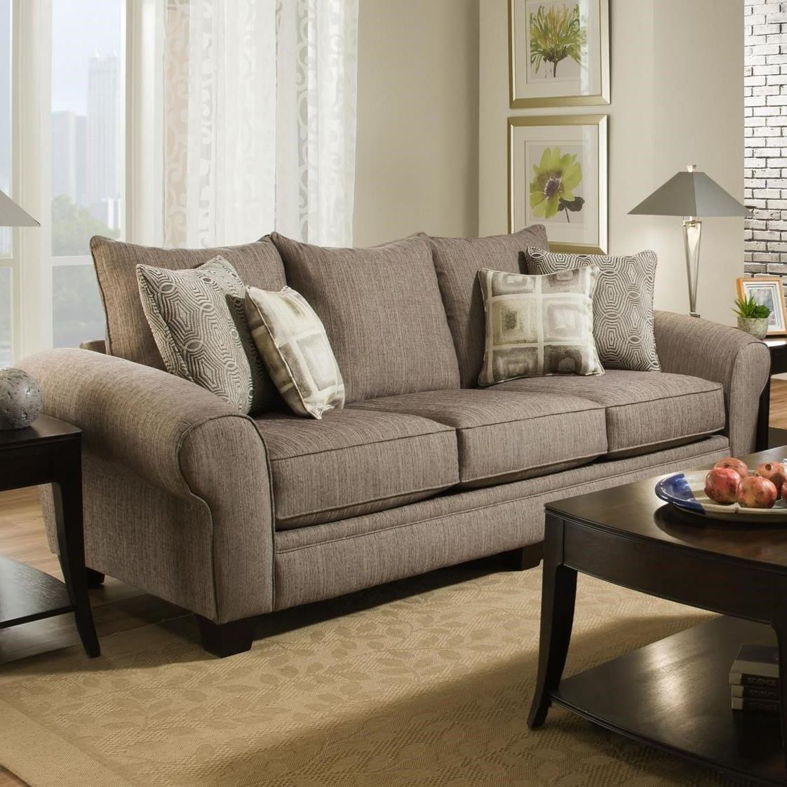 Albany 911 Sofa - Item Number: 0911-00-Essence Pewter