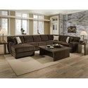 Albany 968 Sectional Sofa - Item Number: 968-60-GENS+68+69+66+52-22518