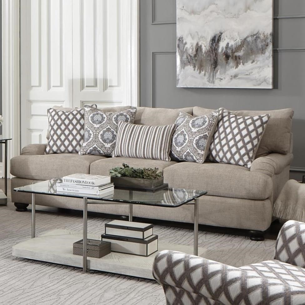 Fine Albany 994 Archie Putty Casual Sofa With Slim Rolled Pillow Machost Co Dining Chair Design Ideas Machostcouk