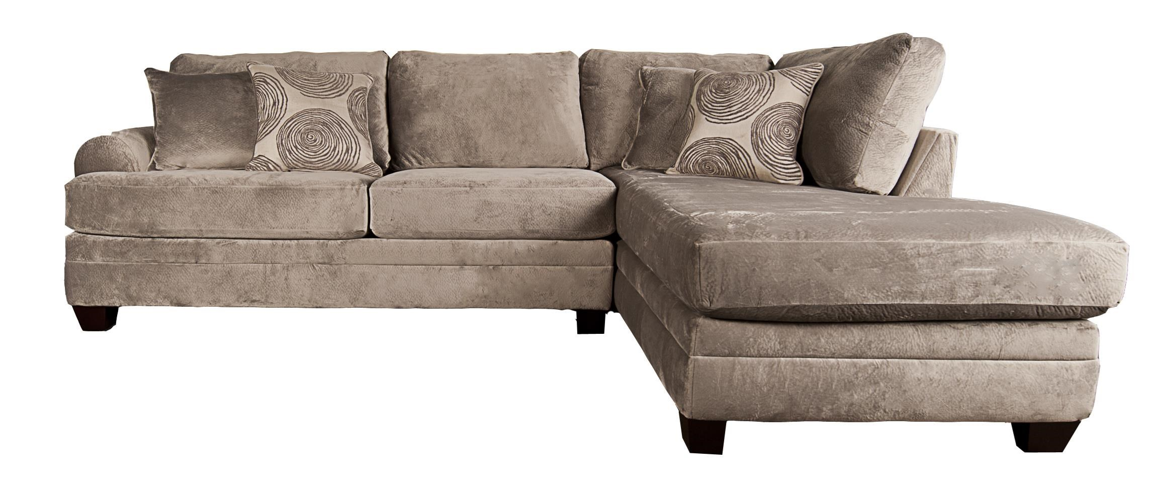 Agustus Sectional Sofa with Accent Pillows by Albany at Morris Home