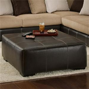 Albany Calico Cocktail Ottoman