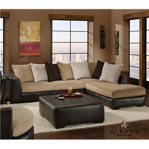 Albany 348 San Marino 3 Piece Stationary RAF Sectional Sofa Group