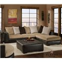 Albany 348 San Marino 3 Piece Stationary RAF Sectional Sofa Group - Item Number: 348-3PCA