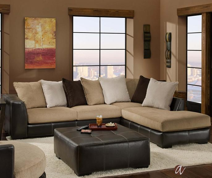 Albany 348 san marino contemporary 2 piece sectional with for Albany sahara sectional sofa chaise