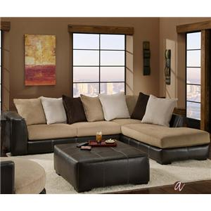 2 Piece Sectional with RAF Chaise