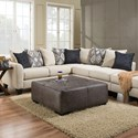 Albany R759 2 Piece Sectional Sofa - Item Number: R759-00+68-GENS-20612