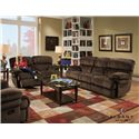 Albany X1800 Casual Power Reclining Sofa with Pillow Top Arms