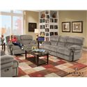 Albany X1800 Casual Reclining Sofa with Pillow Top Arms