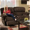 Albany X1800 Casual Power Reclining Loveseat - Item Number: P1800-11-GENC-GroovyChocolate