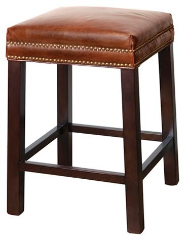 Belfort Leather Belmont Counter Stool - Item Number: AT009C-AS