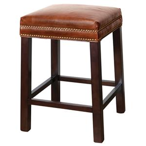 Belfort Leather Belmont Counter Stool