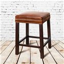Belfort Leather Belmont Belmont Counter Height Stool with Antique Saddle Leather Seat