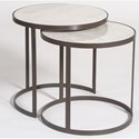 Alder & Tweed Beverley Round Nesting Tables - Item Number: AT9217-SM-MC