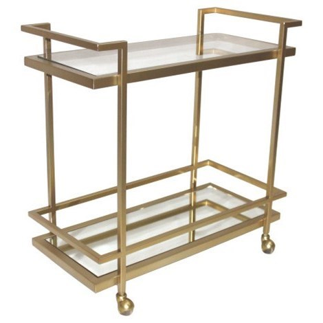 Belfort Leather Brentwood Bar Cart - Item Number: AT200-ABF