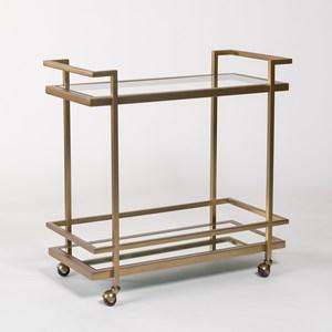 Belfort Leather Brentwood Bar Cart