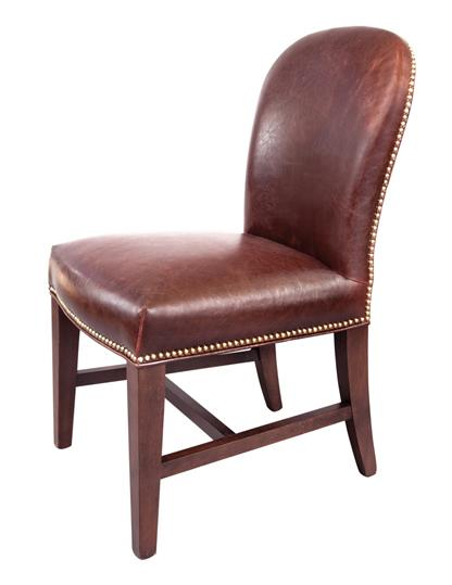 Belfort Leather Claremont Dining Side Chair - Item Number: AT705-OT