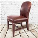 Belfort Leather Claremont Dining Side Chair with Leather Back and Seat