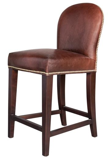 Belfort Leather Claremont Counter Height Stool - Item Number: AT705C-OT