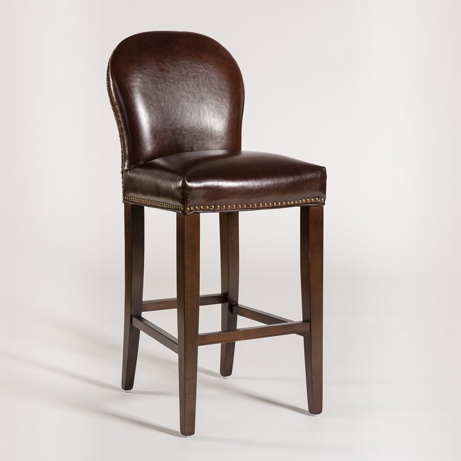 Belfort Leather Claremont Counter Height Stool With
