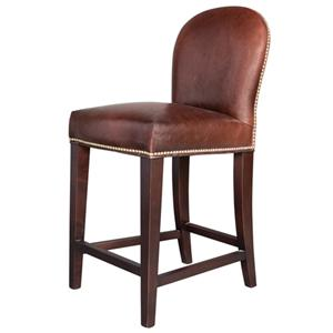 Belfort Leather Claremont Counter Height Stool
